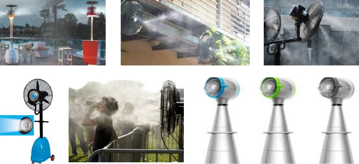 Best Portable Misting Fans With Tank : Outdoor cooling and heating gas heater dubai